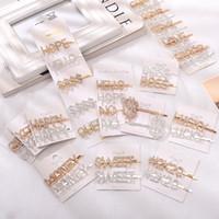 Серебро Золото Letter Word Rhinestone Кристалл шпилька Hairclips волос клип ручка Pin Барретт Украшение Аксессуары для волос