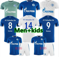 Männer Kinder 20 21 SCHALKE 04 Fussball Jerseys Kit 2021 2020 Home Away Serdar Ozan Harit Raman Bentaleb Mc Kennie Football Hemden Kutucu