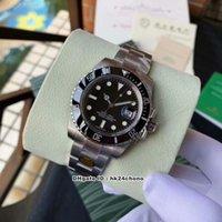 Super n V8 40mm Datum 904L Stahl 116610 ETA2836 28800VPH Autoamtische Herrenuhr Keramik Lünette schwarz Zifferblatt Edelstahl Armband Gents Uhren