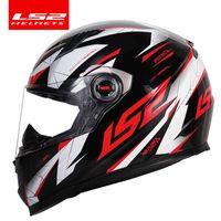 % 100 orijinal LS2 savaşçı tam yüz motosiklet kask motokros yarış kask LS2 ff358 ECE sertifikasyon kasko moto casque