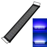 24W 156 LEDフルスペクトル水ランプ47.2インチ黒US標準防水LED水族館ライトフィッシュタンクライトクリップランプ水生装飾品