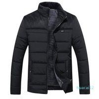 abbigliamento progettista caldi di vendita giacca uomo inverno nuovo più Cashmere Blouson Homme Maschio stand collare commercio cappotto tenere in caldo cotone Spesso Splice