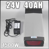 portapacchi posteriore 24V 40Ah agli ioni di litio batteria elettrica della bici con porta lampada LED USB per 1000W motore