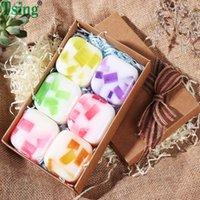 6X100g Savon Huile essentielle de lavande Rose Hydratant Nourrissant SPA savon parfumé Visage Savon de Noël Ensemble-cadeau
