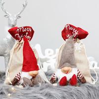 Presente de Natal Bolsas Natal Estilo Embrulhos Assorted sacos atuais sacos do presente do envoltório do presente de Santa com Drawstrings A11