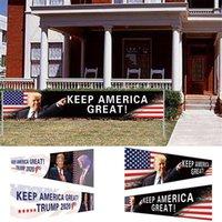 Estoque dos EUA Mantenha a América Grande Bandeira 296x48cm Trump 2020 Bandeira eleitoral presidencial Trump Campanha Flag DHL Shipping