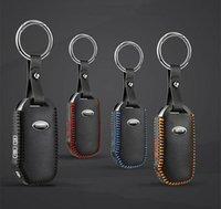 Couro genuíno Car Key Capa Para Kia Sportage 2018 Key Case Bag Titular Wallet