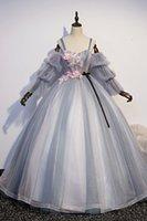 Abito da ricamo a manicotto staccabile Rococò Principessa Principessa Cosplay Wonderland Dress Medioevale Abito Rinascimentale Regole Victoria Belle Ball