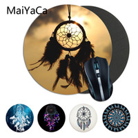منصات الماوس المعصم يعتمد maiyaca تصميم بسيط dreamcatcher كمبيوتر الألعاب جولة mousemats المضادة للانزلاق الكمبيوتر المحمول الفئران وسادة حصيرة ماوس الفأر