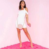 Slash maniche Night Club collo Halter Vestito aderente estate Donna sportiva Vestiti Designer Dress Womens