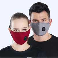 Washable Cycling Anti Dust Mask With Breathing Valve Mouth- m...