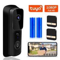 Дверные звонки Tuya WiFi Дверное звонок 1080P HD Видео Домофон Дверной Телефон Умный Жизнь Беспроводной Безопасность Камера ИК Ночной Зона Усилитель