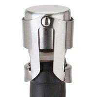 Нержавеющая сталь вина Пробки вакуума Sealed бутылки вина Пробки подключи Нажатие кнопки Тип шампанского Крышка хранения Бар Инструменты HHA1517