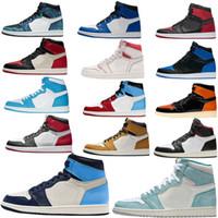 Air Jordan 1 Retro Hoch: 1 X-Men Basketball-Schuh-Obsidian ASG UNC purpurnen Farbton Fearless Gebannt Retroes 1s Chicago Frauen Weiß Grau Sportschuhe