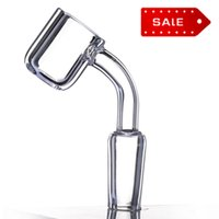 4mm Flat Top-Quarz-Banger 14.10 / 18mm Männlich Weiblich Klar Joint 90 Grad Domeless Nagel für Dab Rigs Großhandel 643