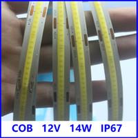 유연한 COB LED 스트립 빛 DC12V 24V FOB 10mm 378 LED / M 고밀도 Dimmable 레드 그린 블루 자연 따뜻한 차가운 순수한 흰색 리본