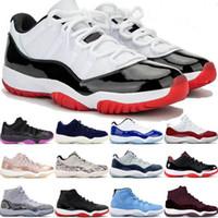 أحذية كرة السلة عالية الجودة منخفضة بيضاء ولدت 11 jumpman 11 concord 45 أحذية رياضية بيضاء معدنية فضية البلاتين الرجال والنساء