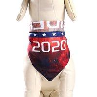 Trump Biden Pet Dreieck Schal 2020 US-Präsidentschaftswahlkampf Striped Pet Bow Ties Kragen Katze pupply Tierzubehör VT1549
