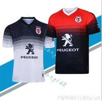 Stade Toulousain 2019-2020 Adulto Super Rugby Jersey Le Stade shirt Toulouse Maillot Camiseta Maglia Tops Trikot Camisas Kit