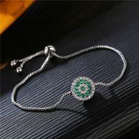 Braccialetto di fascino del petalo del fiore di cristallo Tirare il polsino del polso dei braccialetti del diamante regolabile per le donne gioielli di moda e sabbioso