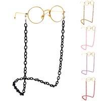 Mode Frauen Brillenketten Breite Acrylketten Anti-Rutsch-Brillen-Schnur-Halter-Ansatz-Bügel Lesebrille Seil