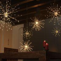 Fireworks Solar String Lights 200 LED Solar Lamp 8 Mode LED Lights Remote Control Decoration XMAS Light for Party Christmas GGA2519