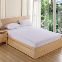 160x200cm wasserdichter Matratzenbezug Luxus Frottier Matratzenschoner Blatt auf elastische Matratzenauflage Spannlaken Bett