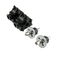 4pcs / set 1309 Metal Gear differenziale 1254 Gearbox Housing Shell per 1/14 WLtoys 144001 4WD RC automodellismo Accessori T200812