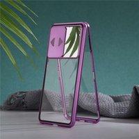 cep telefonu kılıfı manyetik emilimi için uygun Saf renk metal cep telefonu kılıfı lens koruma peep geçirmez çift taraflı cam