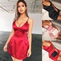 Robes décontractées femmes robe d'été gaine confortable sexy sans manches Spaghetti Strap cocktail Clubwear fête mini solide noir rose rouge
