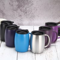 15oz 420ml Insulated Vacuum Flasks Thermos Double Layers Belly Cup 304 stainless steel mug office coffee mug with handle T3I51064