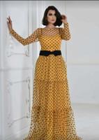 XL-4XL 2020 Yaz Yeni Moda Afrika Kadınlar O-boyun Polka Dot Uzun Kollu Artı boyutu Uzun Elbise Afrika Giyim ile İç