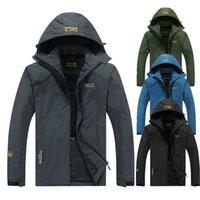2020 ECTİK Erkekler Kadınlar Sonbahar Açık Yürüyüş Ceketler Su Geçirmez Rüzgarlık İnce Tırmanma Kamp Yağmurluk Kayak