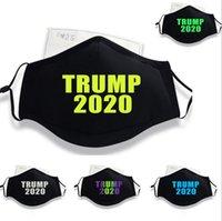 Máscaras Adulto Trump Luminous Trump Máscara Facial Trumps Eleição nos fornece Boca da tampa à prova de poeira Máscaras lavável Trump rosto com um filtro LSK899