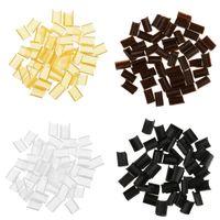 50PCS كيراتين الأظافر الخرز لاصقة لU نصيحة Rebond كليب التمديد الساخن فيوجن الذهب الأسود بني أبيض