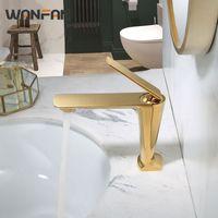 Torneiras de pia do banheiro Wanfan Faucet de latão sólido Basin plataforma montada misturada misturador de encanamento de encanamento SPOUT S79-373