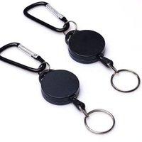 Выдвижных брелоки Выдвижной 60см брелок Клип Прицепного Брелок Anti потерянного вытяжное кольцо брелок для вечеринок KKA8068