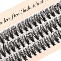 Ciglio naturale estensione Faux Mink Ciglia individuali 10/20 / 30D Cluster frusta il trucco Cilia False Eye Lashes