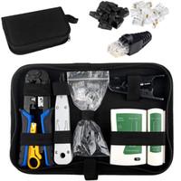 네트워크 도구 세트, 펀치 도구 15 조각 RJ11, RJ45, 휴대용 멀티 기능 LAN 네트워크 수리 도구 키트 LAN 케이블 테스터