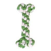 Giacca da compagnia di pet cotone mastica knot giocattoli colorato durevole intrecciato corda ossea divertente cane gatto giocattoli pet cane accessori