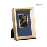 Cadres Solide Wood Po Cadre Picture Creative High-Grade Pographie de Texture en métal brossé