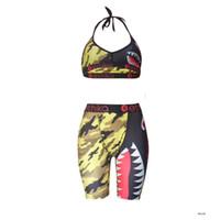 Тренажерный зал Одежда женщин Ethika женщин наборы этики боксеры середины талии дамы Bikinis женские купальные костюмы нового бюстгальтера + шорты 6NER AP2W