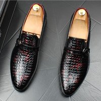 New European Fashion Men Party Wedding Shoes Handmade Loafer...