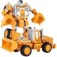 2em1 Alloy Modelo Transforma carro robô Diecasts Engenharia de Veículos da construção do caminhão Creative Assembly Deformação do robô do brinquedo Kid Toys