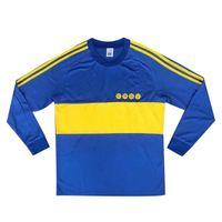 톱 1980 1981 레트로 클래식 Boca Juniors 1981 82 Diego Maradona Roman Riquelme 축구 유니폼 태국 축구 셔츠 축구 유니폼 유니폼