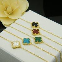 2020 nuovo braccialetto 5 colori 18 carati in oro / argento placcato per le donne all'ingrosso Bracciale in madreperla bianca