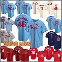 NUEVO Jersey de béisbol 2020 46 Paul Goldschmidt Cardinal 4 Yadier Molina 13 Matt Carpenter 1 Ozzie Smith Harrison Bader Stan Musial Martínez 12