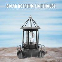 Farol Solar LED Light Rotating Lâmpadas Quintal Jardim Cerca Tools Outdoor Decoração Sensor Beacom lâmpada de iluminação