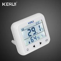Akıllı Ev Kontrolü Kerui 433 MHz Yükseltilmiş Kablosuz LED Ekran Ayarlanabilir Sıcaklık Alarm Dedektörü Sensörü Koruma Sistem için