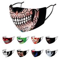 Cadılar bayramı Yüz Maskesi Tasarımcısı Noel Kafatası PM2.5 Toz Geçirmez 3D Boyutlu Yıkanabilir Yeniden Kullanılabilir Maskeler